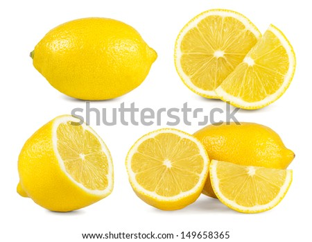 lemon set - stock photo