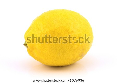 Lemon Single on white background