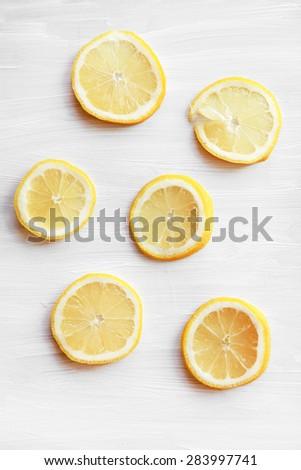 lemon slices  - stock photo