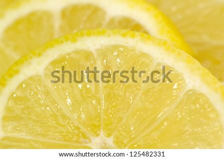 Lemon Slices Close-Up - stock photo