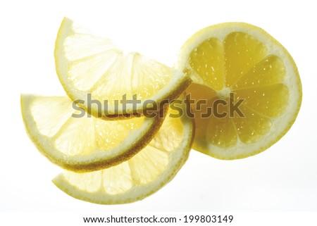 Lemon slices, close-up - stock photo