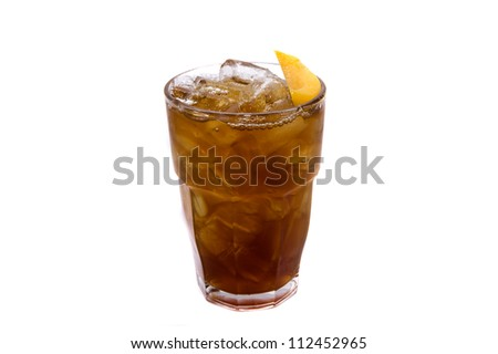 lemon soda juice on white backgrounds