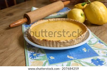 Lemon Tart - stock photo