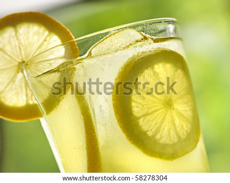 lemonade closeup - stock photo