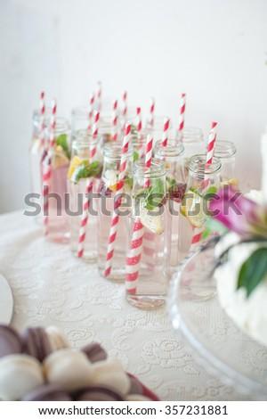 Lemonade on the table - stock photo