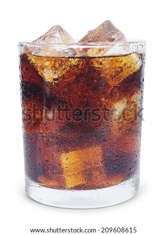 lemonade with ice - stock photo