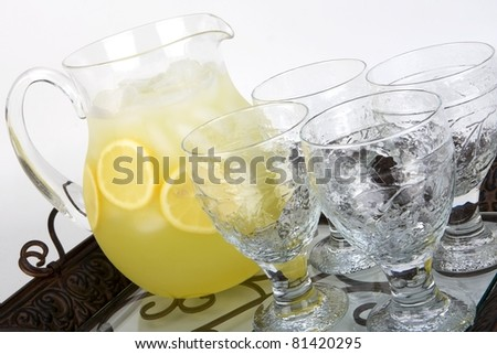 Lemonade with pitcher and glass