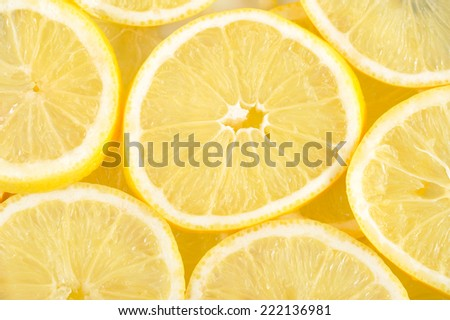 Lemons background. - stock photo