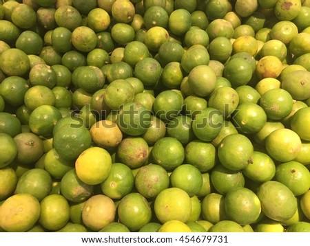 Lemons In Market - stock photo