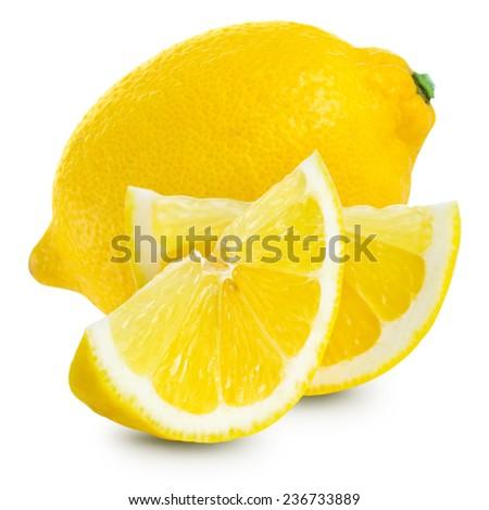 Lemons isolated on white background  - stock photo