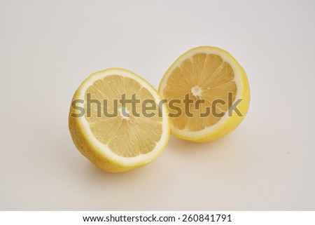 Lemons isolated on white background. Clipping Path
