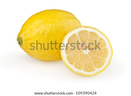 Lemons isolated on white background with clipping path