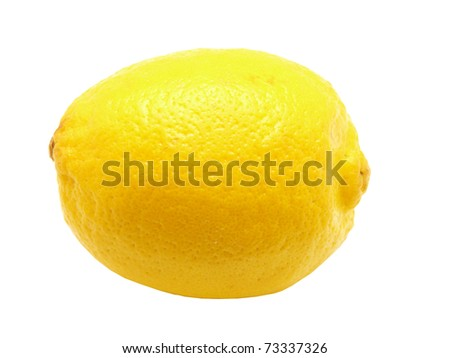 Lemons on a white background - stock photo