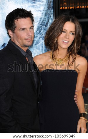 Len Wiseman and Kate Beckinsale at the Los Angeles Premiere of 'Whiteout'. Mann Village Theatre, Westwood, CA. 09-09-09