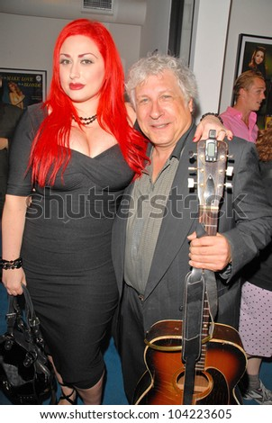 """Lenora Claire and Smokey Miles at Julie Newmar ~A Life in Motion"""" at the David  W. Streets Gallery, Beverly Hills, CA. 11-08-09 EXCLUSIVE - stock photo"""