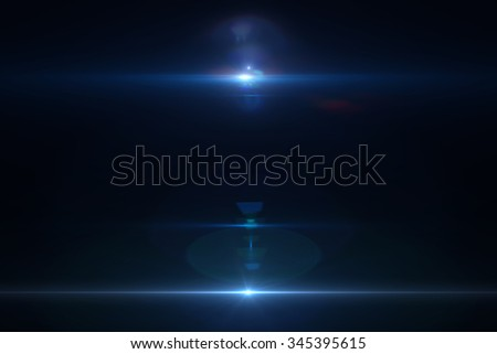 Lens flare effect in space 3D render - stock photo