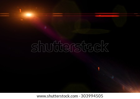 lens flares for photography - stock photo