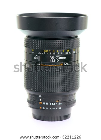 lens isolated on the white background