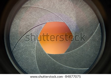 lens of the photo objective - stock photo