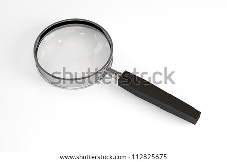 Lens with Path - Isolated on White Background