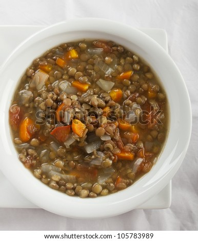 lentil cooked - stock photo