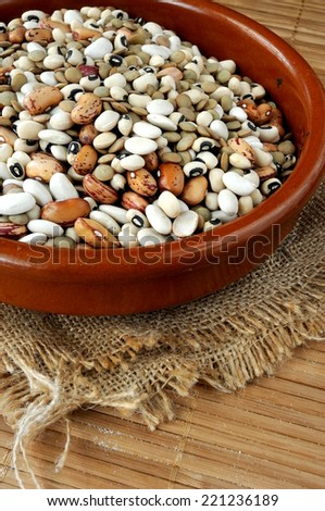 lentils, chickpeas, red beans - stock photo