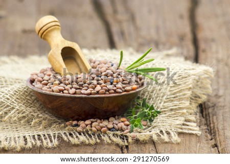 lentils in a bowl - stock photo