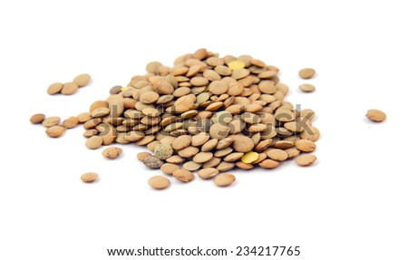 lentils isolated on White Background  - stock photo