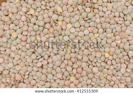 Lentils pulse vegetables vegan food useful as background - stock photo