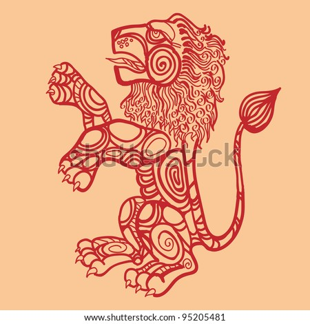leo, sign of the zodiac - stock photo