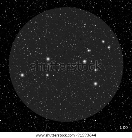Leo Zodiac Constellation - stock photo