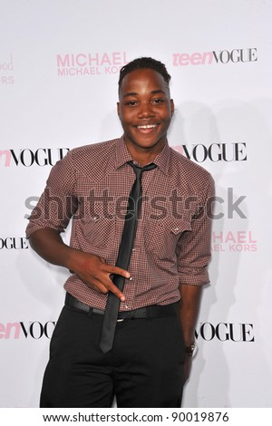 Leon Thomas at the 8th Annual Teen Vogue Young Hollywood Party in partnership with Michael Kors at Paramount Studios, Hollywood. October 1, 2010  Los Angeles, CA Picture: Paul Smith / Featureflash - stock photo