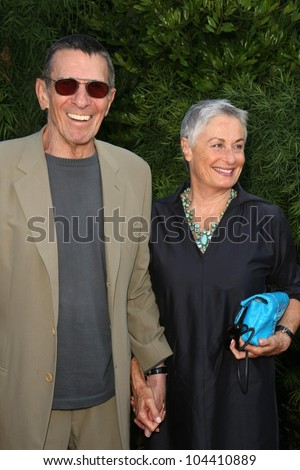 Leonard Nimoy and Susan Bay  at the 35th Annual Saturn Awards. Castaway Restaurant, Burbank, CA. 06-24-09