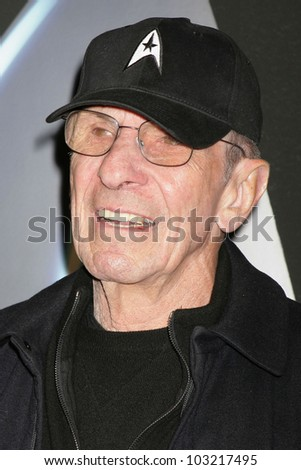 "Leonard Nimoy at the ""Star Trek"" DVD And Blu-Ray Release Party, Griffith Observatory, Los Angeles, CA. 11-15-09 - stock photo"