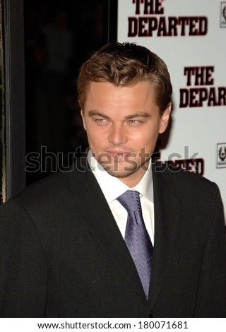Leonardo DiCaprio at THE DEPARTED Premiere, Ziegfeld Theatre, New York, NY, September 26, 2006
