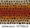 leopard fur for background - stock vector