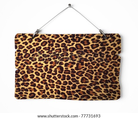 Leopard fur notice board - stock photo