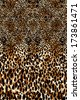 Leopard print in brown color - stock