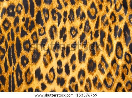 Leopard skin pattern soft blanket material. - stock photo