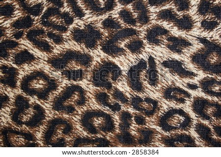 Leopard spotted fabric background. Cheetah fur pattern. - stock photo