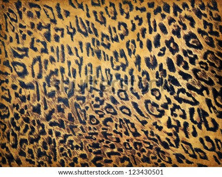 Leopard texture on paper