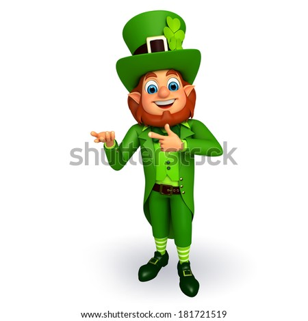 Leprechaun stands for patricks day