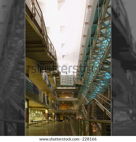 lerner hall columbia university - stock photo
