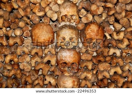 Les Catacombes - stock photo