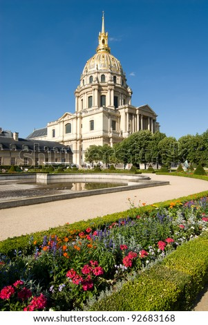 Les Invalides(The National Residence of the Invalids) is a complex of museums and monuments in Paris France, as well as the burial site for some of France's war heroes, notably Napoleon Bonaparte.