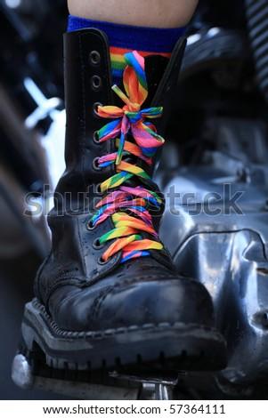 lesbian bike - stock photo
