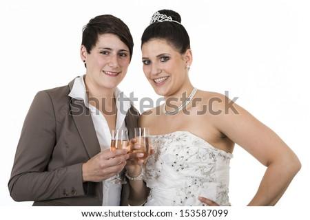 lesbians - stock photo