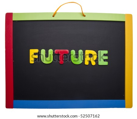 Lesson on the Future.  Isolated on White with a Clipping Path.