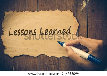 Lessons Learned  - stock photo