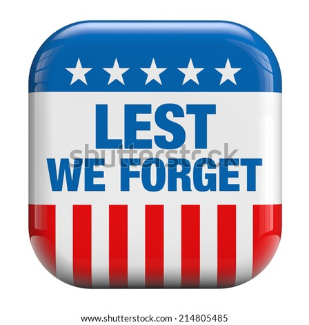 Lest We Forget Memorial Day icon.